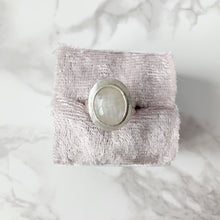 Load image into Gallery viewer, Moonstone Halo Ring Size 8 - The Catalyst Mercantile