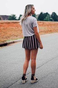 Come On Over Striped High Waist Short - The Catalyst Mercantile
