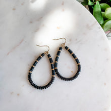 Load image into Gallery viewer, Cry Me A River Teardrop Beaded Earrings