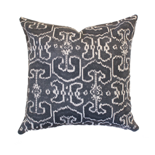 Bengali Pillow Cover, Charcoal - The Catalyst Mercantile