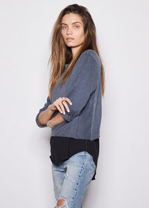 Vanessa Denim Boyfriend Tee - The Catalyst Mercantile