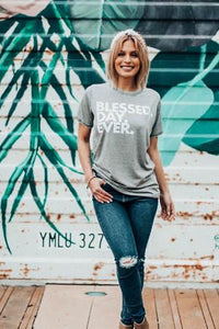Blessed Day Ever Vintage Wash Tee - The Catalyst Mercantile