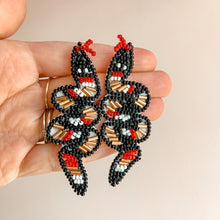Load image into Gallery viewer, Sneaky Snake Beaded Earrings