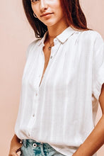 Load image into Gallery viewer, Sandra Textured Woven Button Down Blouse