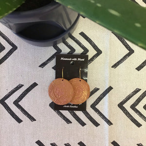 Ariya Clay Moon Earrings - The Catalyst Mercantile