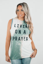 Load image into Gallery viewer, Livin on a Prayer Bleached Muscle Tee - The Catalyst Mercantile