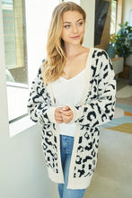 Load image into Gallery viewer, Feeling Good Abstract Leopard Cardigan