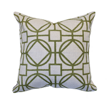 Load image into Gallery viewer, Green Geometric Pillow Cover - The Catalyst Mercantile
