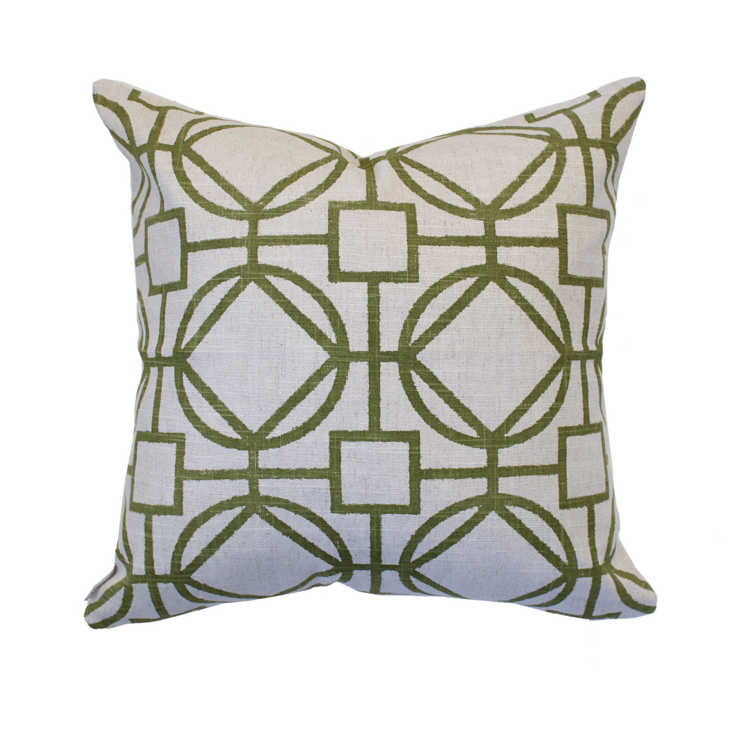 Green Geometric Pillow Cover - The Catalyst Mercantile