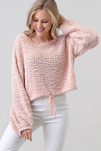 A Whisper Away Blush Cozy Sweater - The Catalyst Mercantile