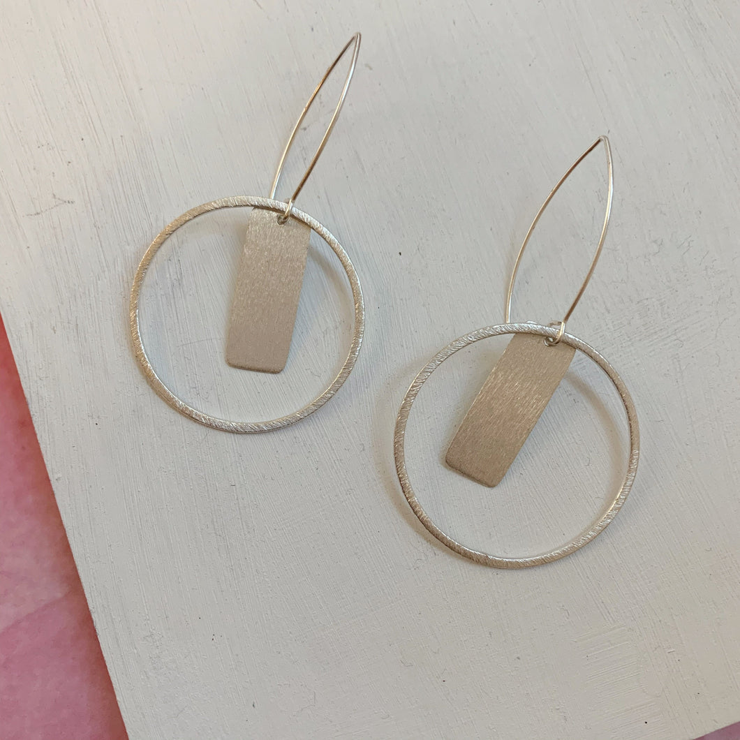 Silver Drop Hoops - The Catalyst Mercantile