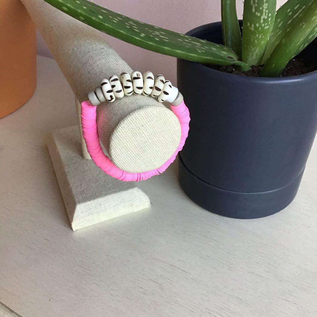 Pink Stretch Bangle - The Catalyst Mercantile