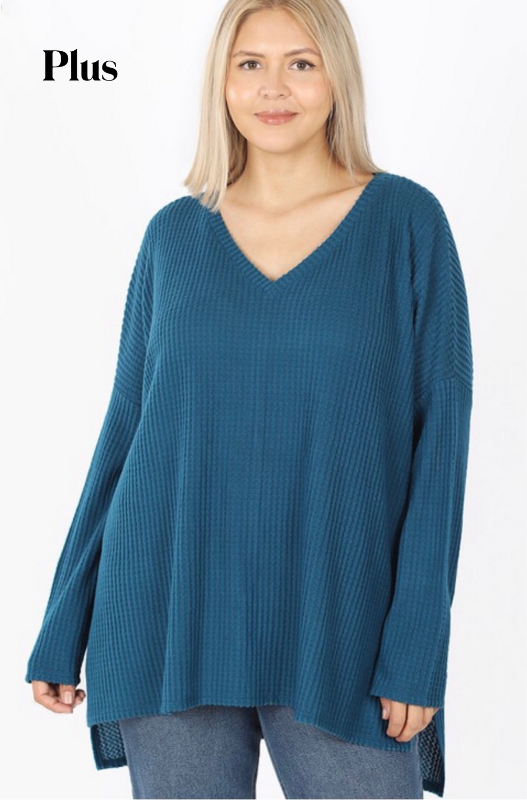 Teal Thermal Long Sleeve Top