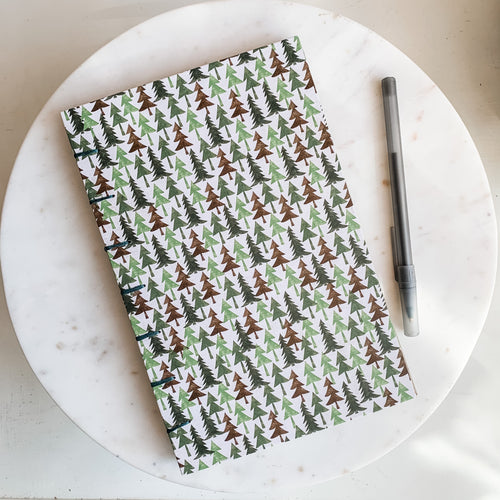 Evergreen Forest Hand Bound Journal