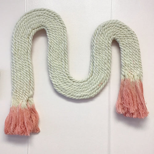 Dip Dyed Curve Rope Wall Hanging