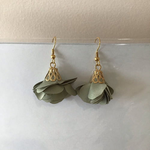 Sage Petal Earrings - The Catalyst Mercantile