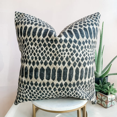 Gray & Brown Snake Print Pillow Cover