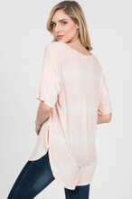 Load image into Gallery viewer, Serenity Now Tie Dye Stripe Top - The Catalyst Mercantile