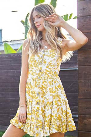 Afternoon Siesta Floral Sun Dress - The Catalyst Mercantile