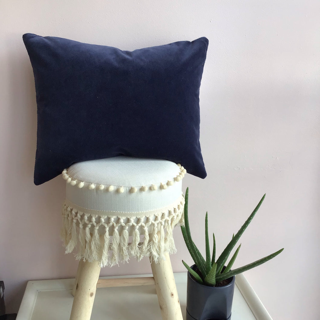 Dusty Navy Velvet Pillow Cover - The Catalyst Mercantile