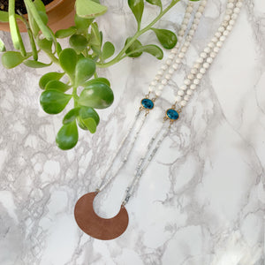 Brass Moon Necklace - The Catalyst Mercantile