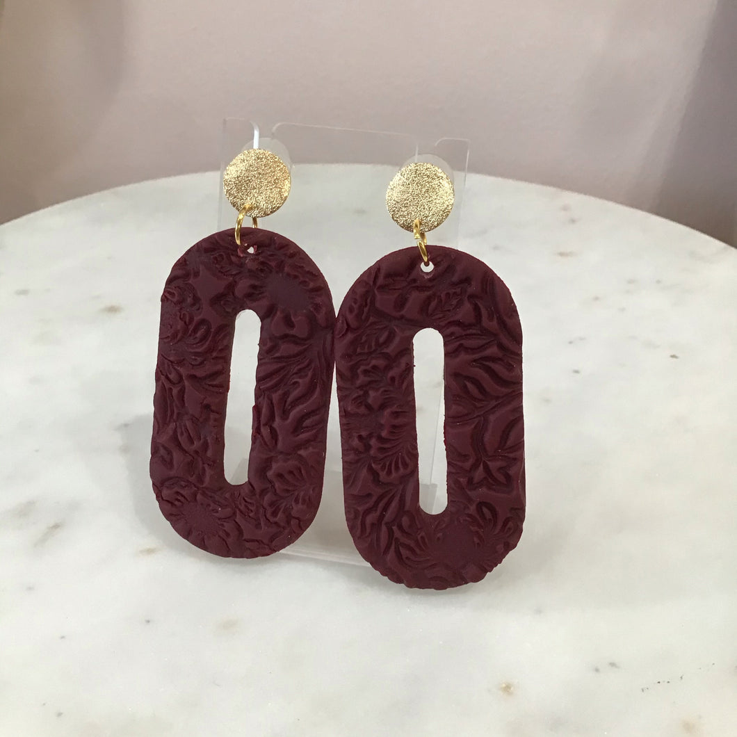 Ophelia Textured Hoop Earrings