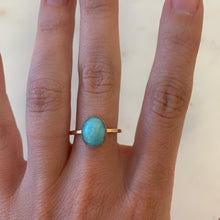 Load image into Gallery viewer, Gold Amazonite Ring size 8 - The Catalyst Mercantile