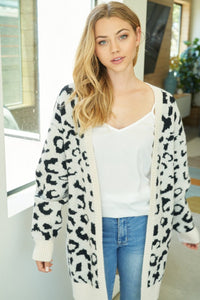 Feeling Good Abstract Leopard Cardigan
