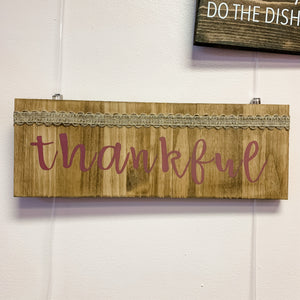 Thankful Simple Wall Hanging
