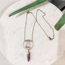 Load image into Gallery viewer, Witch Doctor Amethyst Raw Stone Pendant Necklace