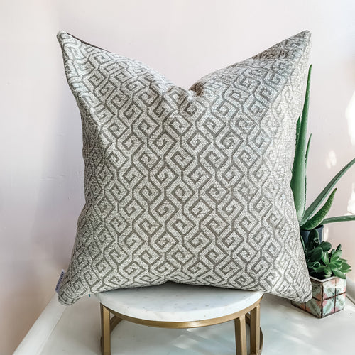 Brown Geometric Pillow Cover
