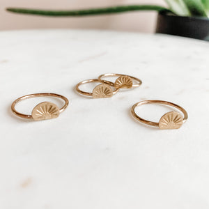You Are the Sun Stacking Ring Gold
