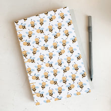Load image into Gallery viewer, Bee Happy Hand Bound Journal