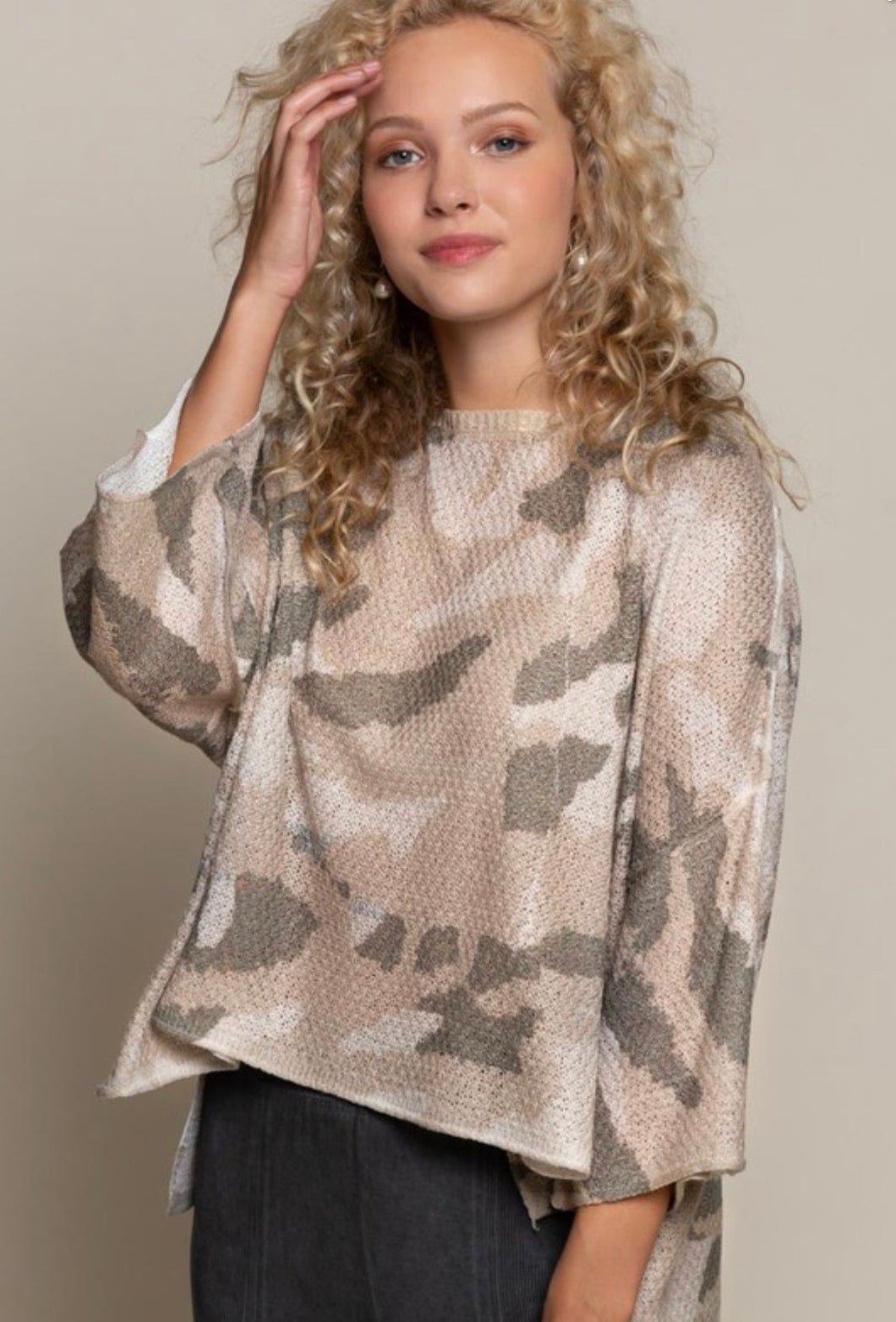 Lightweight Camo Pullover Sweater