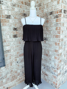 Amanda Black Pleated Jumpsuit - The Catalyst Mercantile