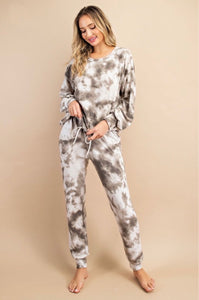 Olive You Tie Dye Lounge Set