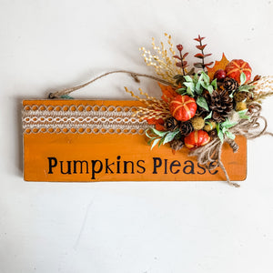 Pumpkins Please Fall Wall Decor