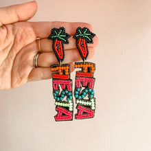Load image into Gallery viewer, Cinco De Mayo Fiesta Beaded Earrings