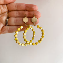 Load image into Gallery viewer, Mello Yello Drop Neon Beaded Hoops