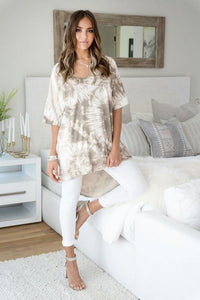Splash of Chill Oversized Tie Dye Tunic