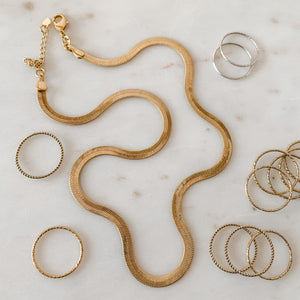 Stunna Liquid Gold 18k Gold Fill Snake Chain Necklace