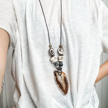 Load image into Gallery viewer, Take No Prisoners Agate Statement Necklace
