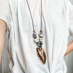 Take No Prisoners Agate Statement Necklace