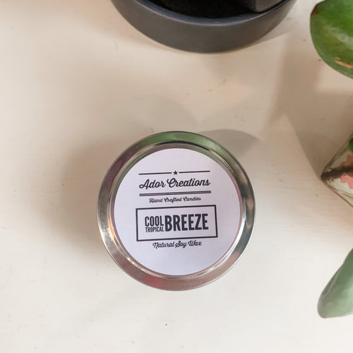 Cool Tropical Breeze Soy Candle Tin