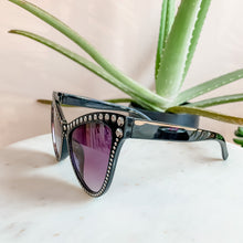Load image into Gallery viewer, Oversized Bling Black Tint Shades