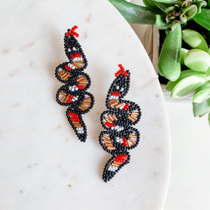 Sneaky Snake Beaded Earrings