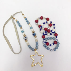 Fourth of July Stretch Bangles - The Catalyst Mercantile