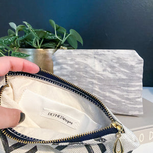 Gray Watercolor Zipper Pouch - The Catalyst Mercantile