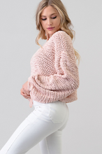 Load image into Gallery viewer, A Whisper Away Blush Cozy Sweater - The Catalyst Mercantile