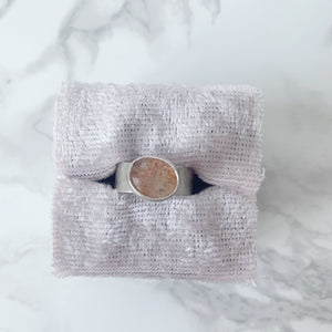Glittery Sunstone Ring size 6.5 - The Catalyst Mercantile